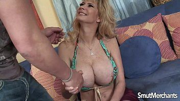 Large boobed blond milf drilled valuable