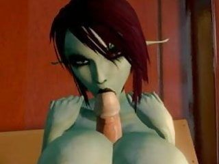 Cg giant tit elf titfuck and orall-service