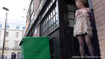 Blond non-professional exhibitionist amber west upskirt footage and public flashing
