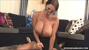Sexy milf with large mounds cook jerking