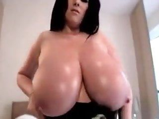 Breasty brit rachel showing off her biggest natural boobs
