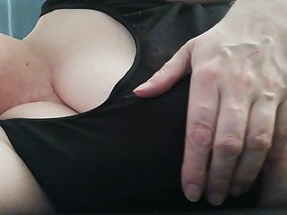 Fondling gal with large whoppers to 2 orgasms, bbw with udders and large nipps