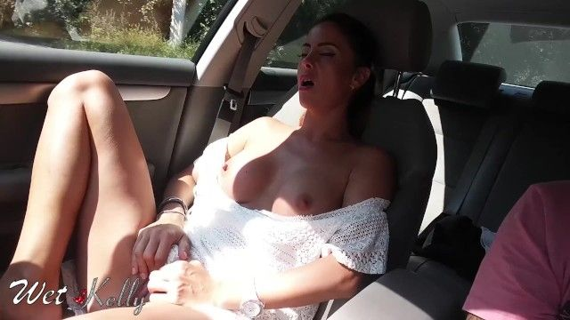 Real non-professional cutie masturbates in the car on the town streets. wetkelly