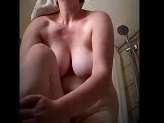 Overweight milf melons after baths